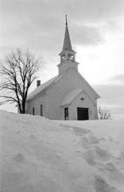 Country Church at Christmas