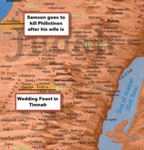Ashkelon Map with Zorah and Timnah
