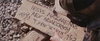 Sign over Jesus head at Crucifixion